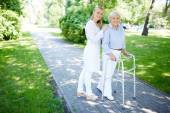 Clinician and her patient — Stock Photo