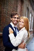 Amorous dates smiling — Stock Photo
