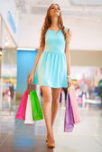 Pretty young shopper — Stock Photo