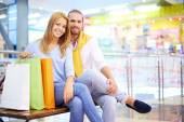 Resting after shopping — Stock Photo