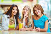 Three happy girls — Stock Photo
