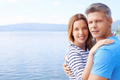 Happy couple on sea — Stock Photo