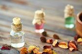 Aromatic essences in bottles — Stock Photo