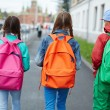 Schoolkids with colorful rucksacks — Stock Photo #55467001