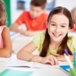 Little girl at lesson — Stock Photo #55467415