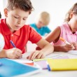 Pupils drawing at lesson — Stock Photo #55467453