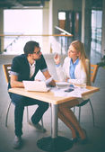 White collar workers planning work — Foto Stock