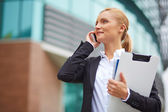 Manager talking on cellphone — Stock Photo
