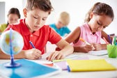Pupils drawing at lesson — Foto Stock