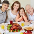 Family on Thanksgiving day — Stock Photo #55472675