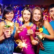 Friends toasting at New Year party — Stock Photo #55474921