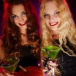 Halloween women toasting with cocktails — Stock Photo #55485869