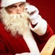 Santa Claus with Christmas letter — Stock Photo
