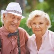 Senior couple in smart casual — Stock Photo #55488203