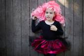 Cute Halloween girl — Stock Photo
