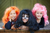 Halloween girls — Stock Photo