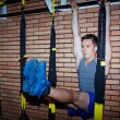 Young guy in sports gym — Stock Photo #55493727