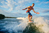 Man surfboarding in the sea — Stock Photo