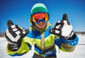 Young snowboarder — Stock Photo