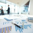 Spreadsheets on office table — Stock Photo #58579529