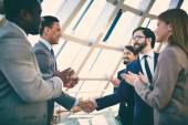 Business people  handshaking — Stock Photo