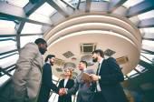Businessmen handshaking — Stock Photo
