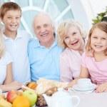 Big family having dinner — Stock Photo #58582243