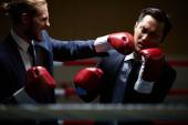 Businessman fighting with rival — Foto de Stock