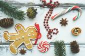 Christmas symbols composition — Stock Photo