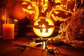 Jack-o-Lantern Pumpkins — Stock Photo