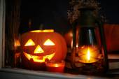 Halloween  Jack-o-Lantern pumpkin — Stock Photo