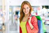 Customer with shopping bags — Stock Photo