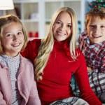 Family on Christmas evening — Stock Photo #59963863