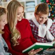 Family reading on Christmas evening — Stock Photo #59963865