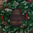 Christmas conifer wreath — Stock Photo #59965757
