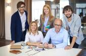Smart employees  in office — Stock Photo