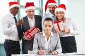 Making Christmas surprise — Stock Photo