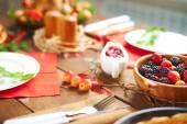 Festive food on table — Stock Photo