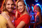 Couple at nightclub — Stock Photo