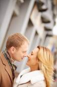 Man going to kiss woman — Stock Photo