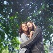 Man tenderly embracing his date — Stock Photo #61780717