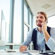Manager speaking on phone — Stock Photo #62855473