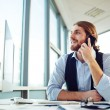 Manager speaking on phone — Stock Photo #62855481
