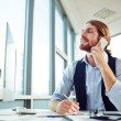 Manager speaking on phone — Stock Photo #62855483