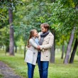 Amorous couple in summer park — Stock Photo #62859677