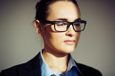 Businesswoman in eyeglasses — Stock Photo