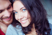 Amorous guy and his girlfriend — Stock Photo