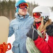 Snowboarders in winter activewear — Stock Photo #62862397