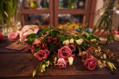 Bunch of fresh roses — Stock Photo