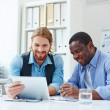 Businessmen working with computer — Stock Photo #63886827